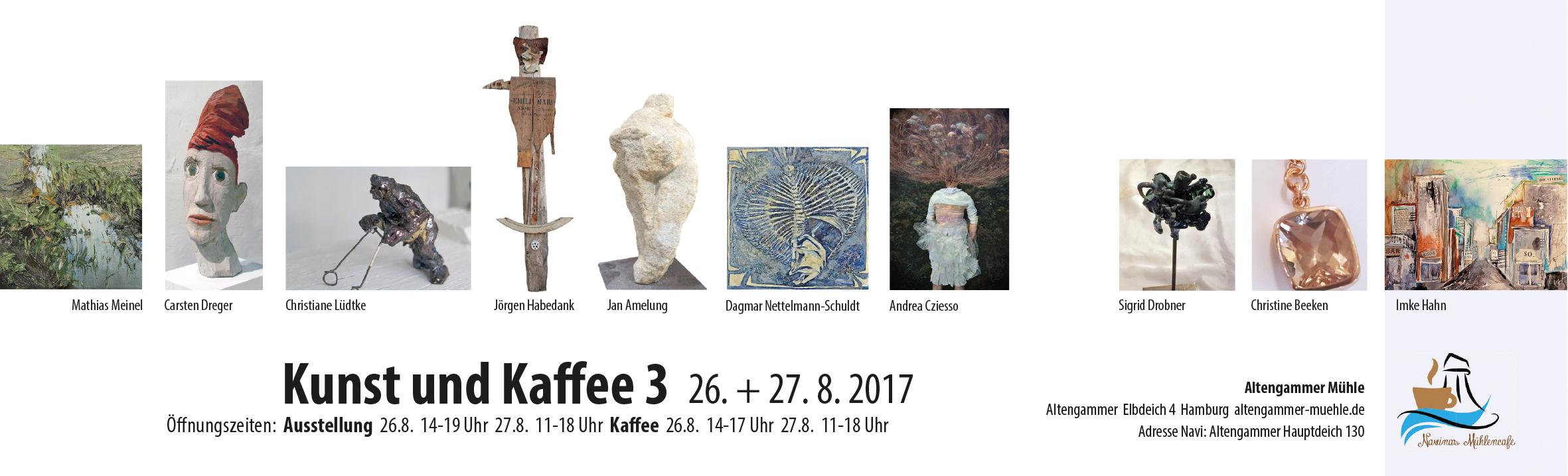 Kunst und Kaffee 3 Einladung quer